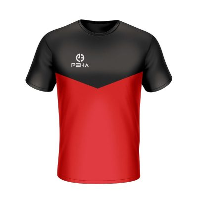 Koszulka sportowa PEHA Rico czarno-czerwona