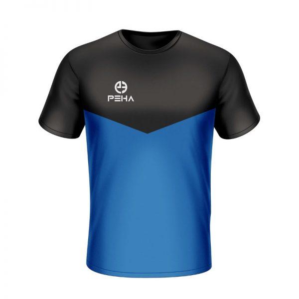Koszulka sportowa PEHA Rico czarno-niebieska