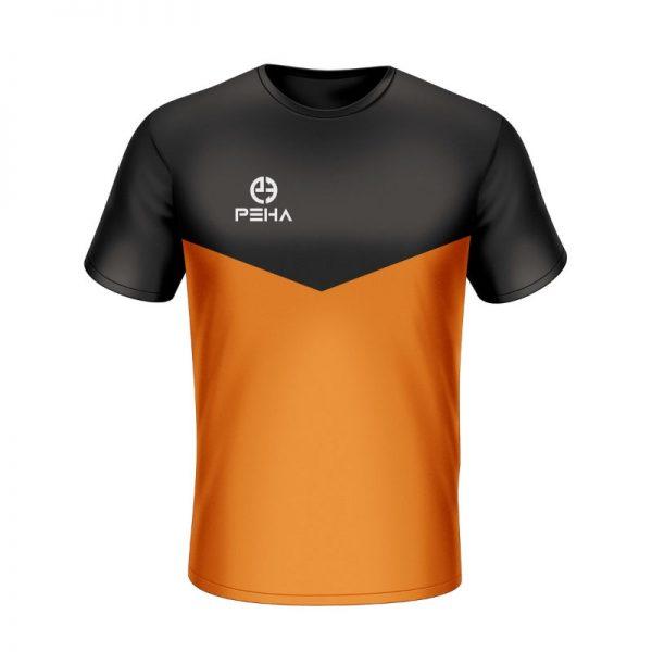 Koszulka sportowa PEHA Rico czarno-pomarańczowa
