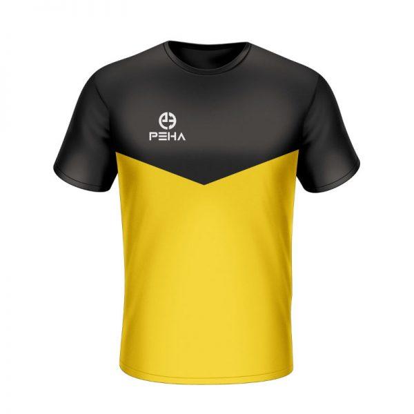Koszulka sportowa PEHA Rico czarno-żółta