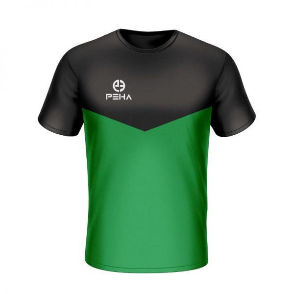 Koszulka sportowa PEHA Rico czarno-zielona