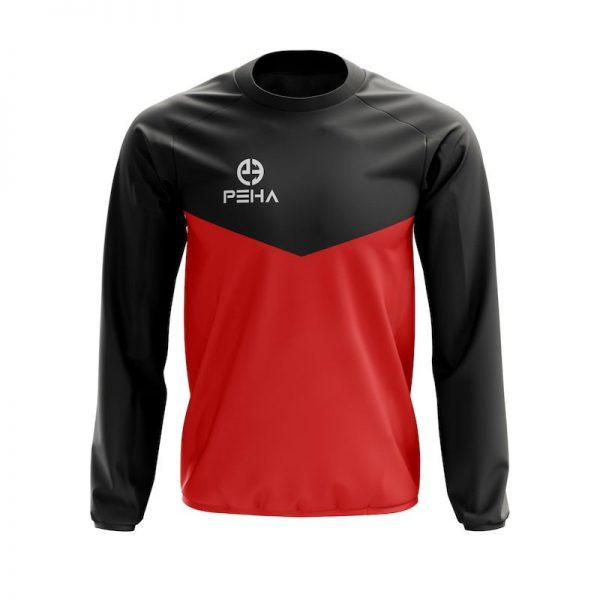 Bluza dresowa PEHA Rico czarno-czerwona