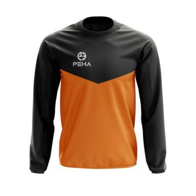 Bluza dresowa PEHA Rico czarno-pomarańczowa