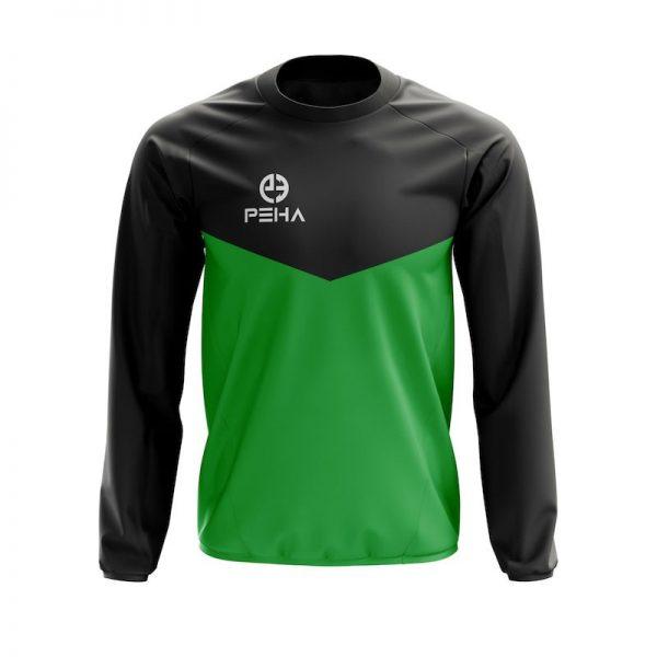 Bluza dresowa PEHA Rico czarno-zielona