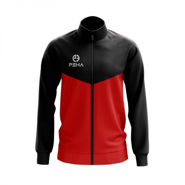 Bluza rozpinana PEHA Rico czarno-czerwona