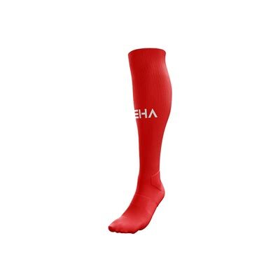Czerwone getry piłkarskie PEHA