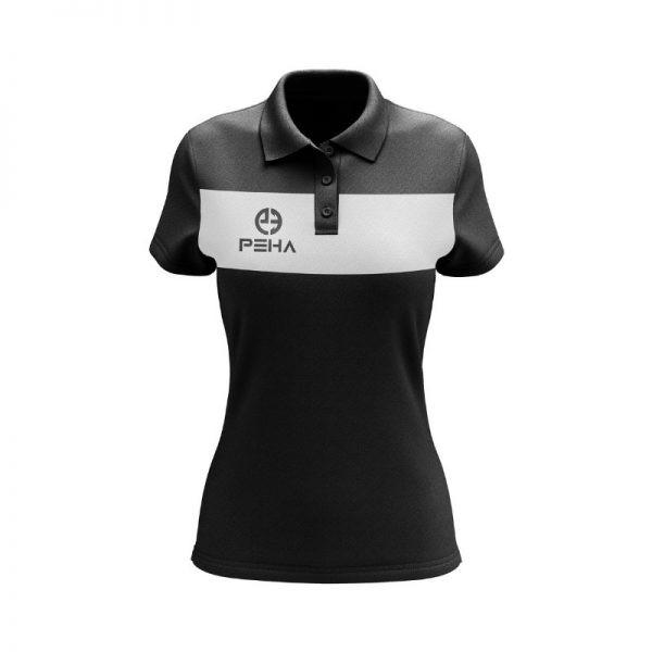 Koszulka polo damska PEHA Ferraro czarna