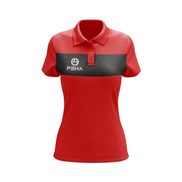 Koszulka polo damska PEHA Ferraro czerwona