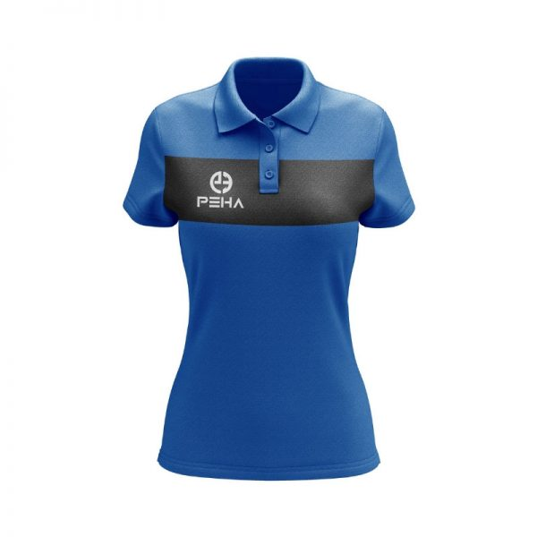 Koszulka polo damska PEHA Ferraro niebieska
