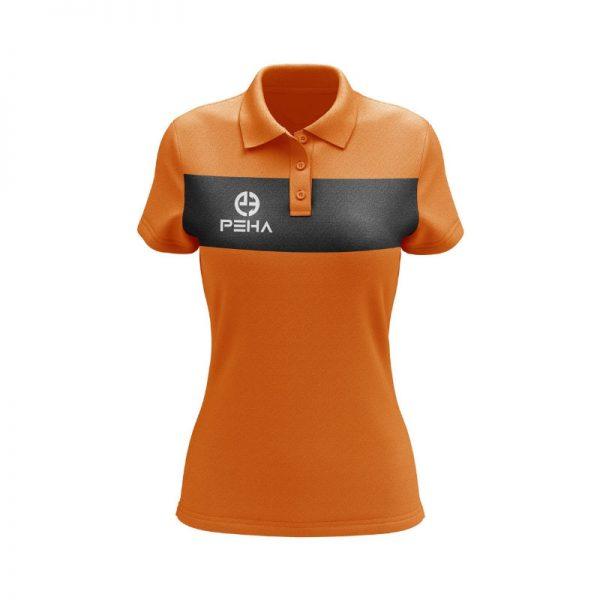 Koszulka polo damska PEHA Ferraro pomarańczowa