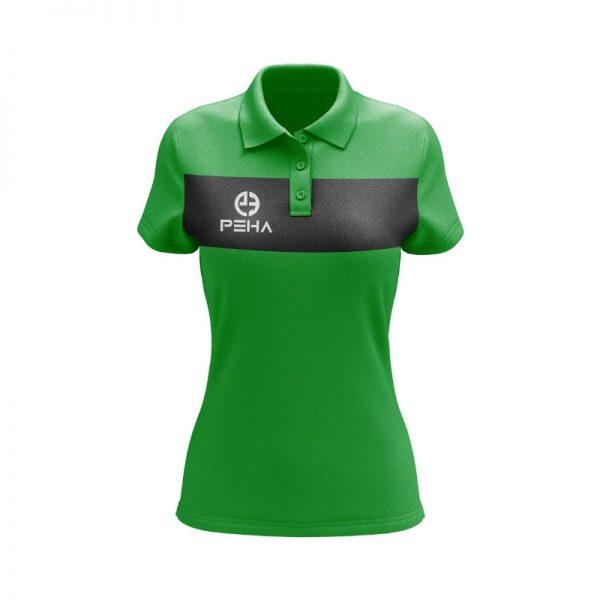 Koszulka polo damska PEHA Ferraro zielona