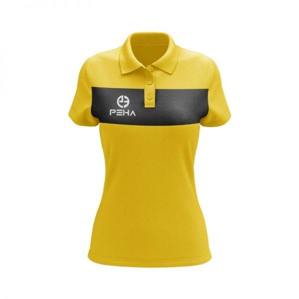 Koszulka polo damska PEHA Ferraro żółta