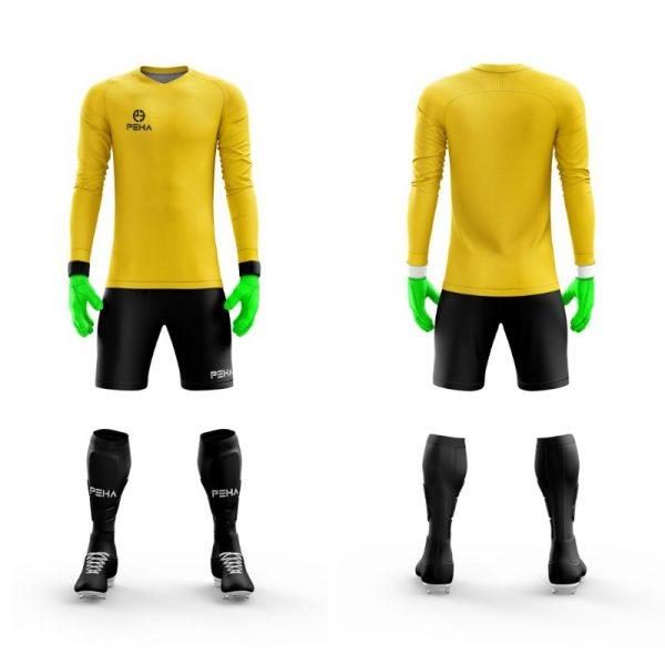 Strój bramkarski PEHA Astro żółty