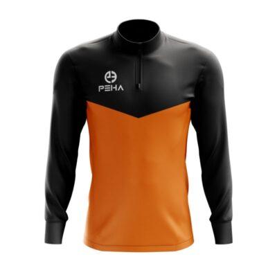 Top treningowy PEHA Rico czarno-pomarańczowy