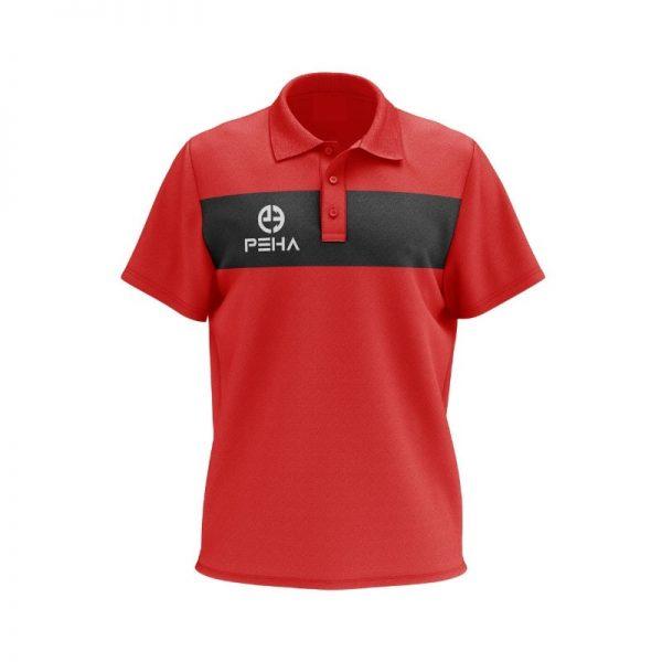 Koszulka polo PEHA Ferraro czerwona