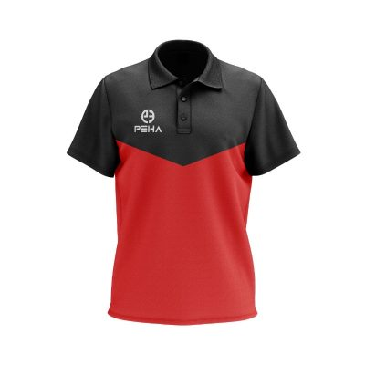 Koszulka polo PEHA Rico czarno-czerwona