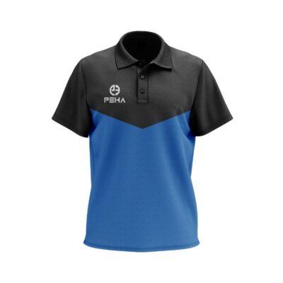 Koszulka polo PEHA Rico czarno-niebieska