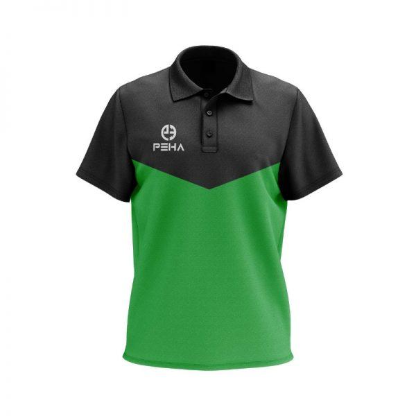 Koszulka polo PEHA Rico czarno-zielona
