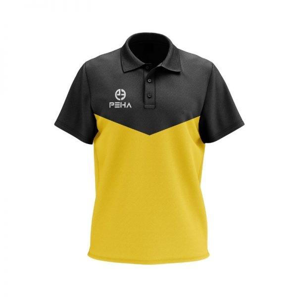 Koszulka polo PEHA Rico czarno-żółta