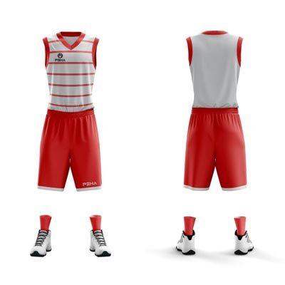 Strój koszykarski PEHA Denver biało-czerwony