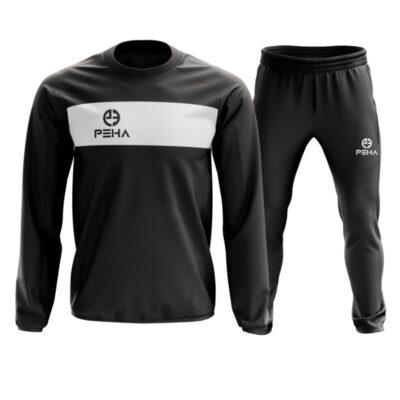 Dres piłkarski PEHA Ferraro czarny zakładany przez głowę