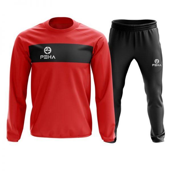 Dres piłkarski PEHA Ferraro czerwony zakładany przez głowę