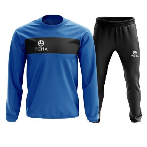 Dres piłkarski PEHA Ferraro niebieski zakładany przez głowę