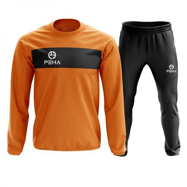 Dres piłkarski PEHA Ferraro pomarańczowy zakładany przez głowę