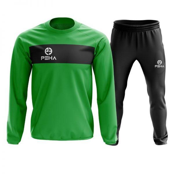 Dres piłkarski PEHA Ferraro zielony zakładany przez głowę