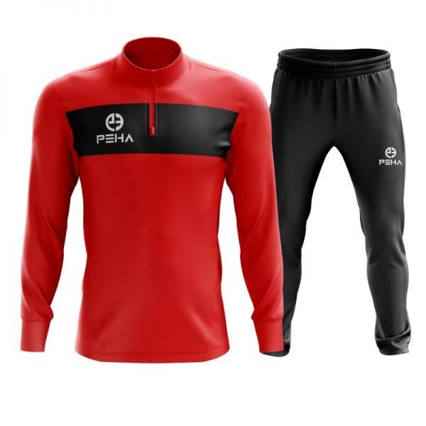 Dres piłkarski PEHA Ferraro czerwony z krótkim zamkiem