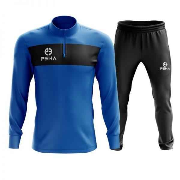 Dres piłkarski PEHA Ferraro niebieski z krótkim zamkiem