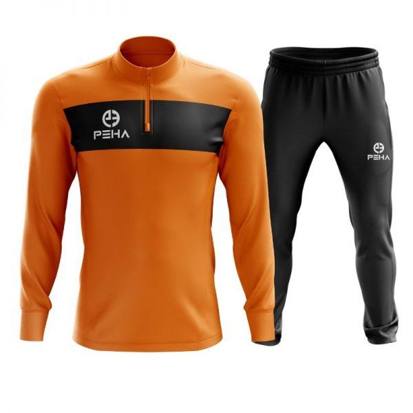 Dres piłkarski PEHA Ferraro pomarańczowy z krótkim zamkiem