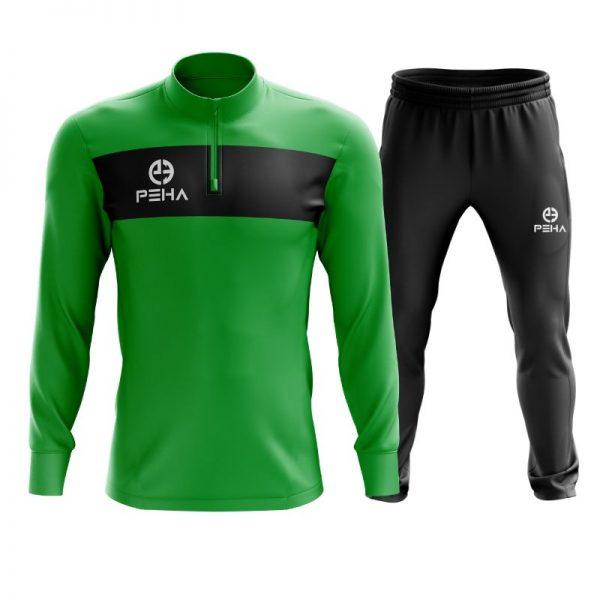Dres piłkarski PEHA Ferraro zielony z krótkim zamkiem