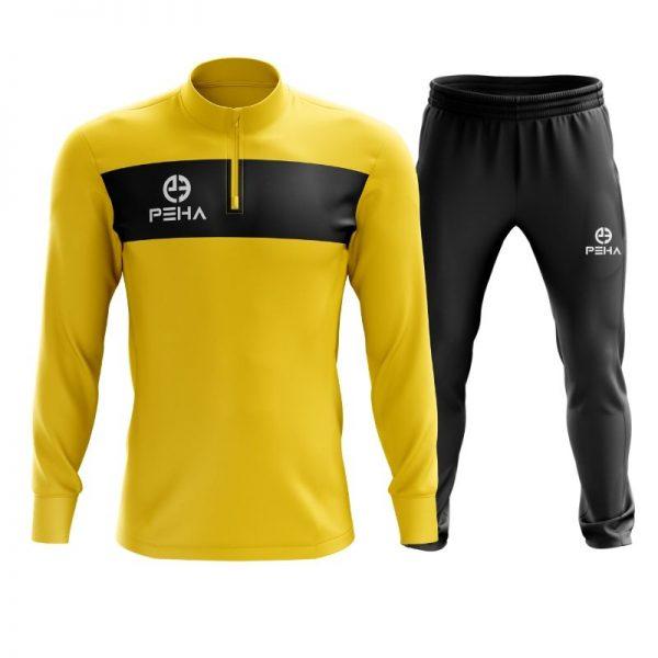 Dres piłkarski PEHA Ferraro żółty z krótkim zamkiem
