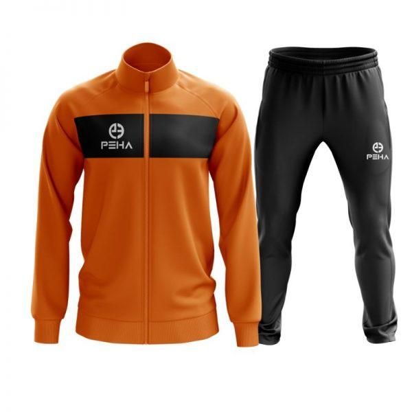 Dres piłkarski PEHA Ferraro pomarańczowy rozpinany