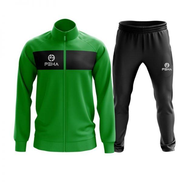 Dres piłkarski PEHA Ferraro zielony rozpinany