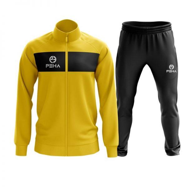 Dres piłkarski PEHA Ferraro żółty rozpinany