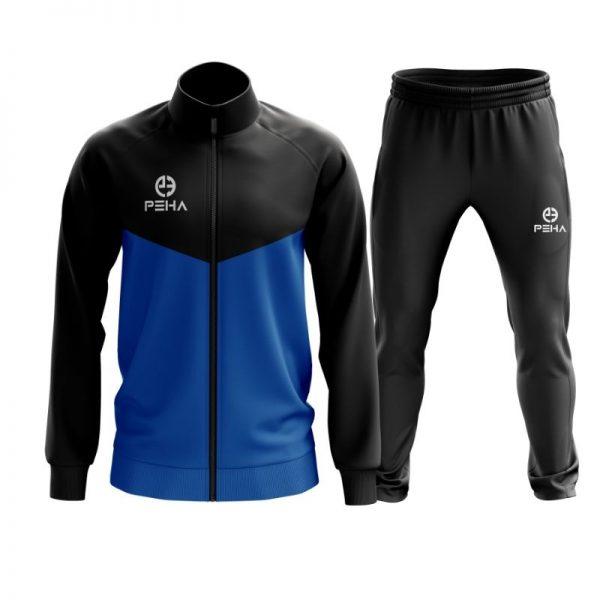 Dres piłkarski PEHA Rico czarno-niebieski rozpinany