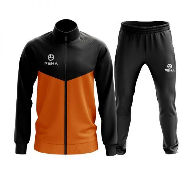Dres piłkarski PEHA Rico czarno-pomarańczowy rozpinany