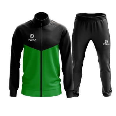 Dres piłkarski PEHA Rico czarno-zielony rozpinany
