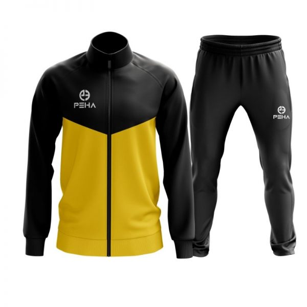Dres piłkarski PEHA Rico czarno-żółty rozpinany