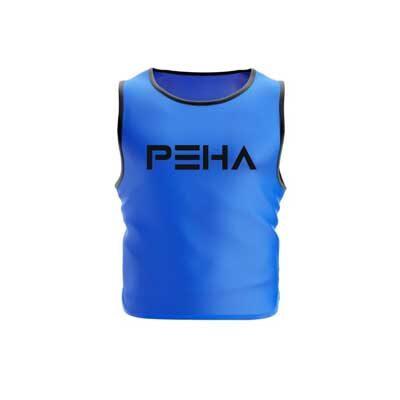 Narzutka piłkarska niebieska z czarną lamówką polskiej marki sportowej PEHA