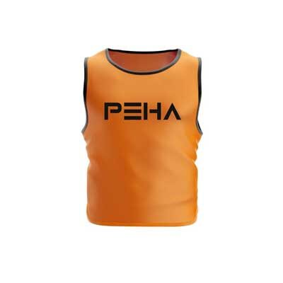 Narzutka piłkarska pomarańczowa z czarną lamówką polskiej marki sportowej PEHA