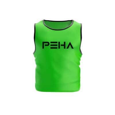 Narzutka piłkarska zielona z czarną lamówką polskiej marki sportowej PEHA