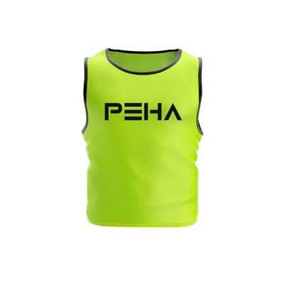 Narzutka piłkarska żółta z czarną lamówką polskiej marki sportowej PEHA