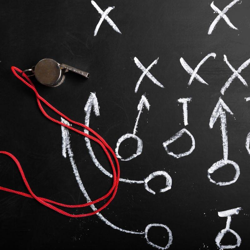 Tablica taktyczna trenera pilłki nożnej