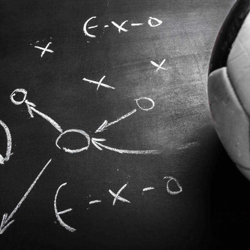 Tablica taktyczna trenera piłki nożnej