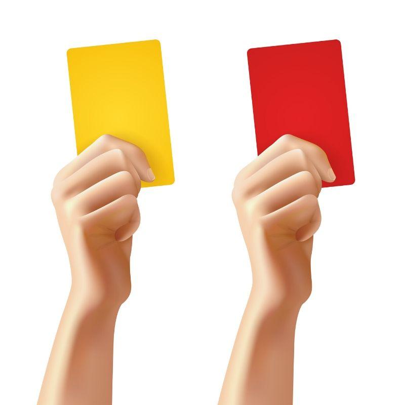 Żółta i czerwona kartka w siatkówce
