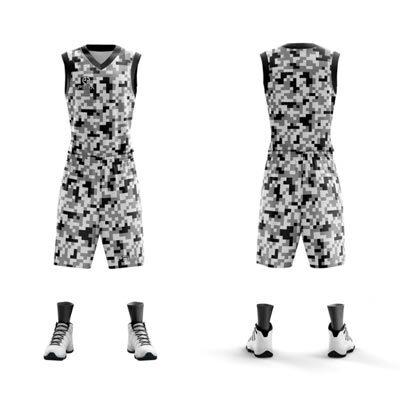 Strój koszykarski PEHA Army biały