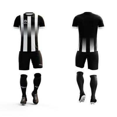 Strój piłkarskie PEHA Alfa czarno-biały